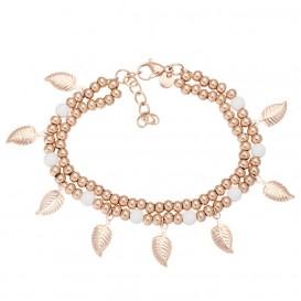 IXXXI B0032799002 Armband Dazzling Leaves rosekleurig 17-20 cm