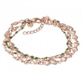 IXXXI B00331-02 Armband Botswana Green rosekleurig-groen 17-20 cm