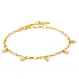 Ania Haie B018-01G Armband Glow Drop goudkleurig 16,5-20 cm