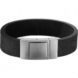 TFT Armband Staal Leer Mat 18 mm 21 cm