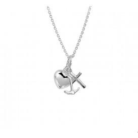 TFT Zilveren Ketting Geloof, Hoop En Liefde 1,1 mm 41 + 4 cm