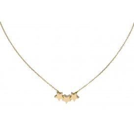Glow Gouden Collier Met Hanger 3 Sterretjes 42+2cm 202.2049.42