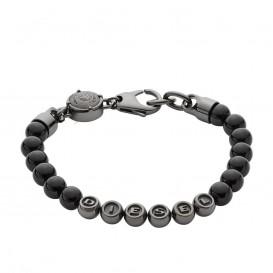 Diesel Armband Beads staal zwart 18-19,5 cm DX0950060