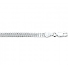 Armband Zilver Gourmet Dubbel 4,3 mm 18 cm