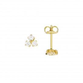 Glow Gouden Oorknopjes - Zirkonia Driekant Glanzend  206.0510.00
