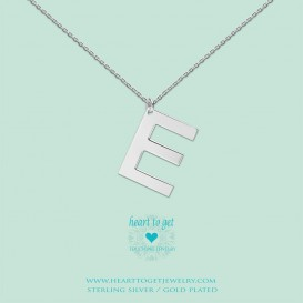 Heart to get LB146INE16S Big Initial letter E including necklace (40 + 8cm) silver