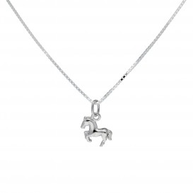 Lilly Zilveren Bedel Kids Collection Incl. Collier Galopperend Paard 102.0238.38