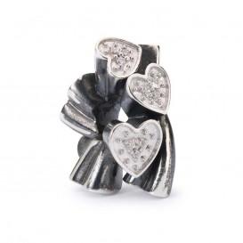 Trollbeads bedel zilver Ontluikende harten TAGBE-00136