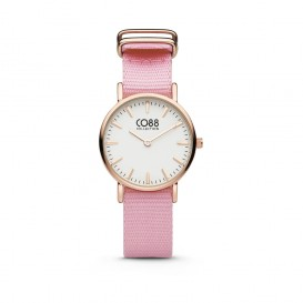 CO88 Collection 8CW-10040 - Horloge - nato band - roze - ø 26 mm