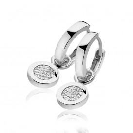 Zinzi ZICH1059 Oorbedels zilver met zirconia