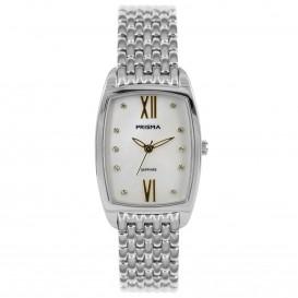 Prisma horloge 1960 Dames Edelstaal Parelmoer P.1960 Dameshorloge 1