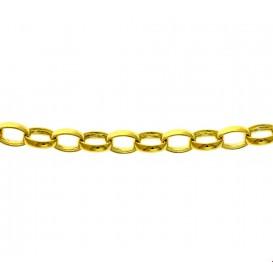 Zilgold Collier goud met zilveren kern Jasseron 6,2 mm 45 cm