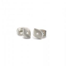 Boccia Titanium 05008-02 Oorknoppen Titanium Zilverkleurig