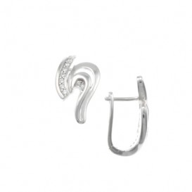 Elegance Zilveren Fantasiecreolen Klapcr Poly/zirk /rhod 107.5995.00