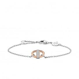 TI SENTO - Milano 2900ZR Armband zilver rosekleurig