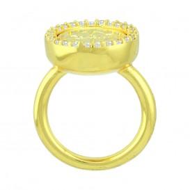 Mi Moneda RIN-AMO-LU-02 Ring Avo De Luxe Silver goudkleurig