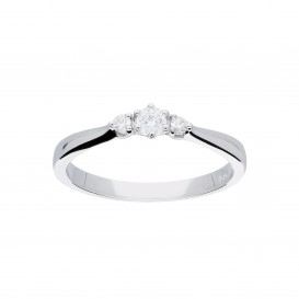 Glow 214.3042.52 Ring Witgoud met briljant 3-0.145 ct G/si