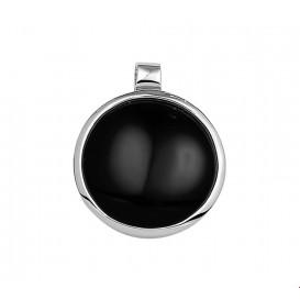 TFT Hanger zilver gerhodineerd Onyx 24,5 x 20 mm