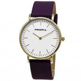 Prisma Horloge 1620.800G Unisex Note Goud P.1620.800G Herenhorloge 1
