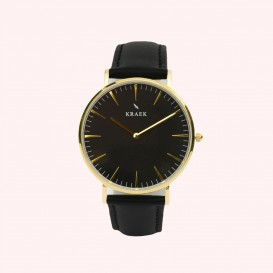 KRAEK Gwylan | Gold | Black 36 mm Dameshorloge