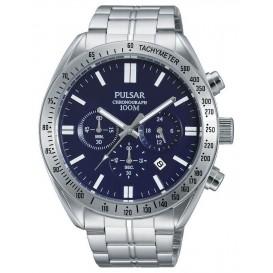 Pulsar PT3607X1 Horloge Chrono Tachymeter staal 42 mm