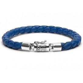 Buddha to Buddha Armband Ben XS Round Leather Blue (F) 21 cm J545BU