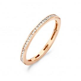 Blush 1138RZI roségouden ring met zirkonia Maat 58 is 18.5mm