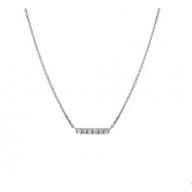 TFT Collier Witgoud Balkje Diamant 0.07ct H P1 41 - 43 - 45 cm