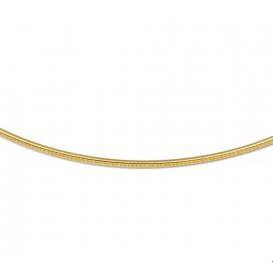 Zilgold Collier goud met zilveren kern Omega Rond 1,4 mm