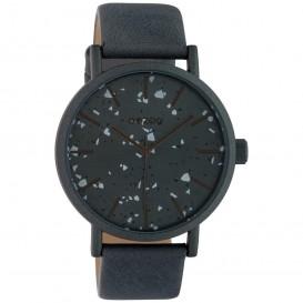 OOZOO C10413 Horloge Timepieces aluminium-leder ijzergrijs 42 mm
