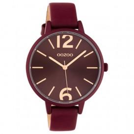 OOZOO C10444 Horloge Timepieces Collection burgundy 42 mm