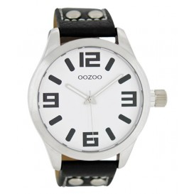 OOZOO Horloge Timepieces Collection 46 mm zwart C1053