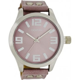 OOZOO Horloge Timepieces Collection 46 mm oudroze C1058