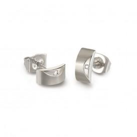 Boccia Titanium 05007-02 Oorknoppen Titanium Zilverkleurig