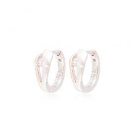 Zilveren Oorbellen klapcreolen met zirconia rosékleurig 107.5411.00