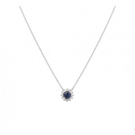 TFT Collier Witgoud Saffier En Diamant 0.09ct H P1