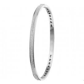 Slavenband Witgoud Diamant 0.62ct H SI Scharnier 4 X 60 mm