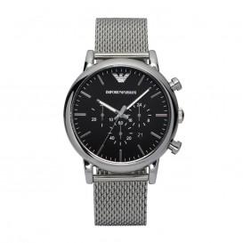Emporio Armani Horloge Luigi staal zilverkleurig/mesh AR1811