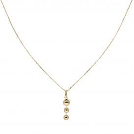 Glow Gouden Collier Met Hanger - 3 Balletjes 40+2cm 202.2041.42