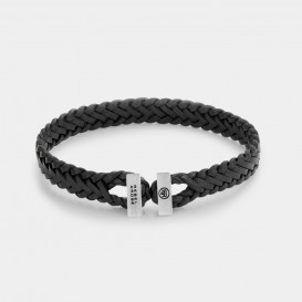 Rebel and Rose RR-L0109-S Armband Connected Woven Gordian Style Black - L   L 21 cm 1