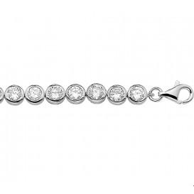 Tennisarmband Zilver Zirkonia 19 cm