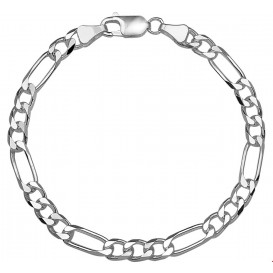 Armband Zilver Figaro 5,5 mm 20 cm