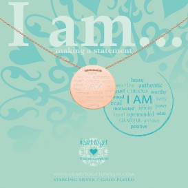Heart to get IAM413N-IAMBR-R i am... brave… ketting rose verguld