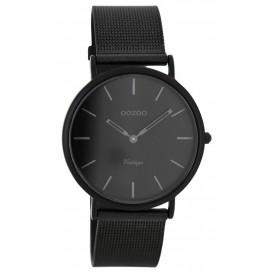 OOZOO Horloge Vintage zwart mesh 36 mm C7730