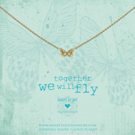 Heart to get N359BUT17G necklace butterfly goldplated together we will fly