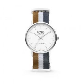 CO88 Collection - 8CW-10031 - Horloge - nato nylon - bruin/wit/grijs - 36 mm