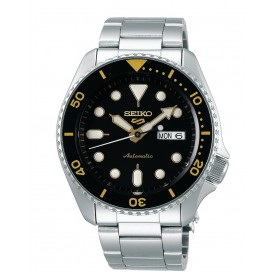 Seiko 5 Sports SRPD57K1 herenhorloge automaat zwarte wijzerplaat 42,5 mm