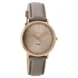 OOZOO Horloge Vintage rosé/taupe 32 mm C8822