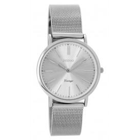 OOZOO Horloge Vintage zilverkleurig 32 mm C8825