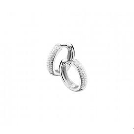 Klapcreolen Diamant 0.25 Ct. Witgoud Glanzend